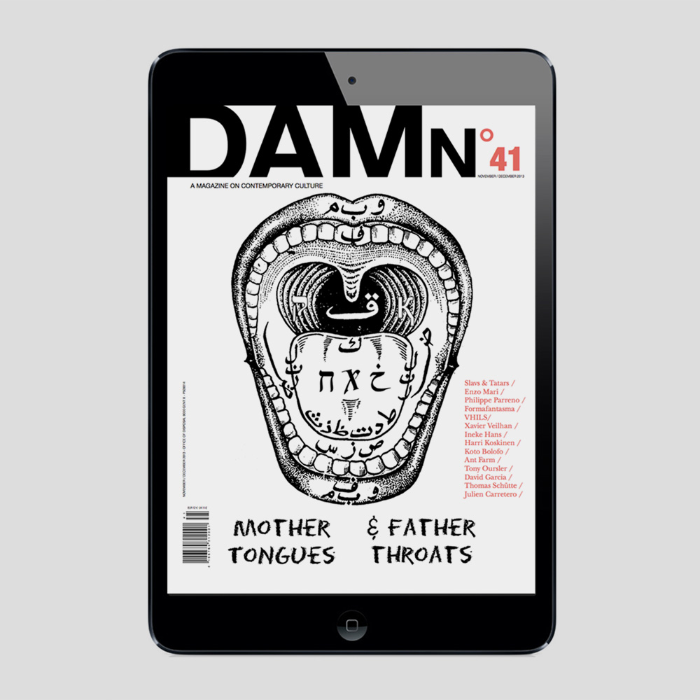 DAMn Magazine on iPad